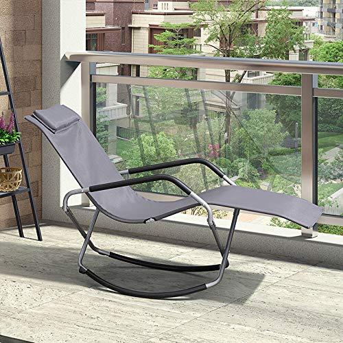 "N\""A Schaukelstuhl Home Schaukelstuhl Klappstuhl Liege Mittagspause Klappbett Büro Siestabett Lazy Chair Schaukelstuhl Adult Einzelbett(Color:1)"
