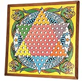 Vintage Melican Checkee King-Foo Framed Chinese Checkers Board Game