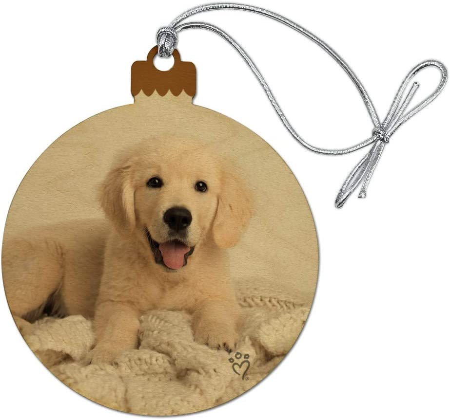 GRAPHICS MORE Golden Retriever Puppy and Wood Dog New popularity Selling Chri Blanket