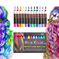 Hair Chalk, Temporary Washable Bright Hair Color Chalk For Girls Boys Teen Kids, Halloween New Year Christmas Birthday Gifts, Non-toxic
