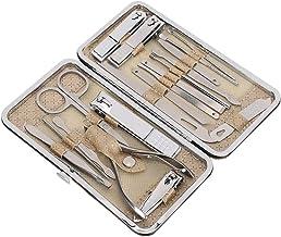 Kit de higiene 19pcs em aço inoxidável, palheta, lixa de manicure de alta qualidade, tesoura de sobrancelha facial multifu...