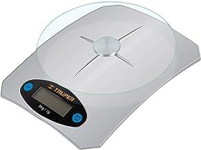 Truper BASE-5EC Báscula digital base cristal para cocina capacidad 5kg, color, pack of/paquete de 1