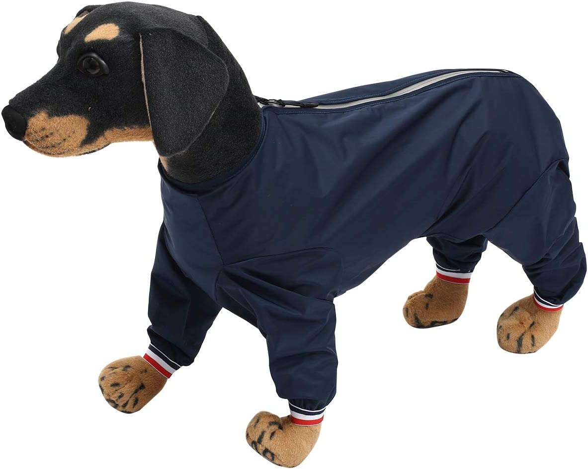 colore blu navy-2XL Ctomche impermeabile per cani leggero impermeabile per animali domestici pieghevole riflettente per cani di piccola taglia e media impermeabile