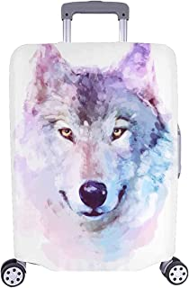 InterestPrint Galaxy Wolf Hipster Animals Travel Luggage Cover Suitcase Baggage Protector Fit 26