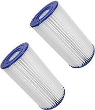 Eghunooze Cartucho de filtro, filtro de repuesto para bombas de piscina, cartucho de filtro, accesorio de filtro, tamaño 10,7 x 10,7 x 20,5 cm, tipo A (2 unidades)