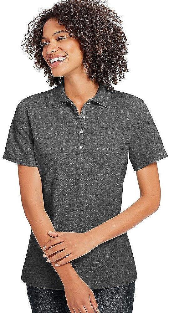 Hanes Women's X-Temp w/Fresh IQ Pique Polo Shirt