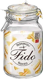 Bormioli Rocco Fido Jar 2L with Airtight Bail and Seal Closures