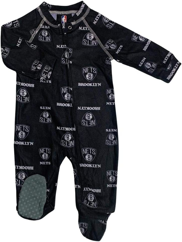 Popularity Outerstuff Infant Outlet sale feature Toddler Brooklyn Nets Coverall Zip Up Sleeper