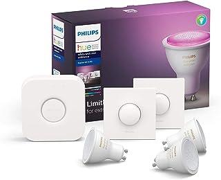 Philips Hue starterkit - wit en gekleurd licht - GU10 – 3 lampen – 2 smart buttons