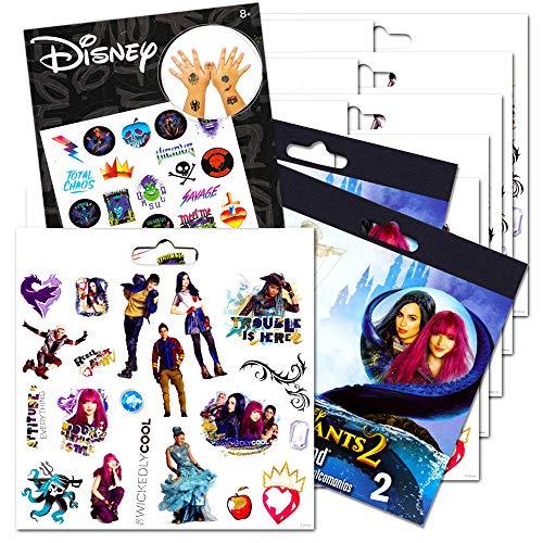 Disney Descendants Stickers Party Pack -- 240 Descendants Stickers Bundled With Bonus Tattoos (12 Sticker Sheets, Descendants Party Supplies)