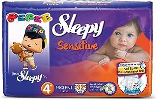 Sleepy Sensitive Maxi Plus 4+ Beden 9-16 Kg, 32 Adet