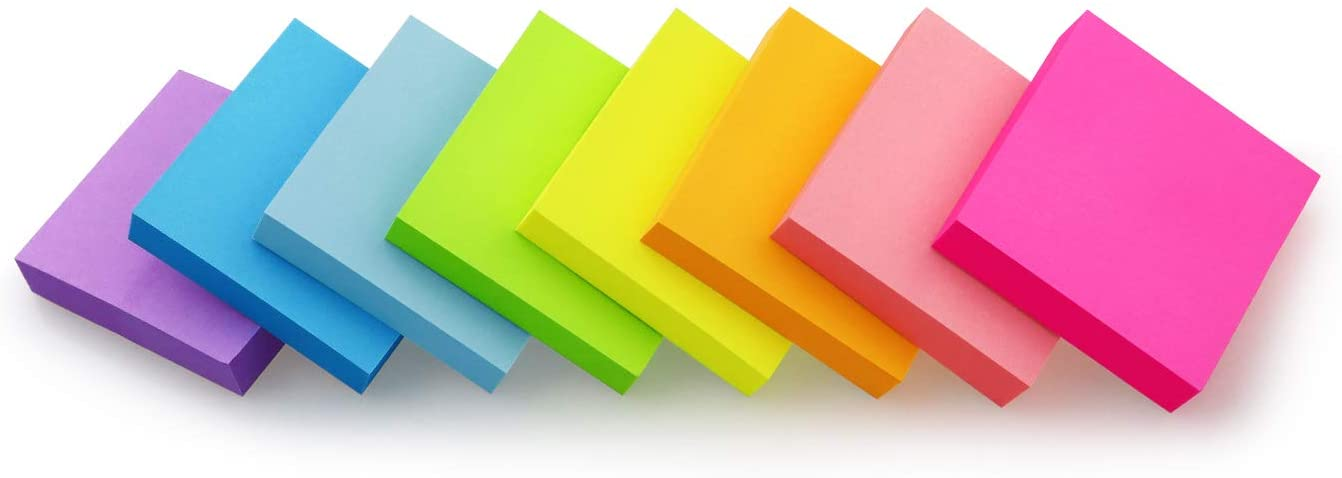 Sticky Notes 2x2 inch Bright Pads Self-Stick 8 Pack 2021 Max 70% OFF model Colors