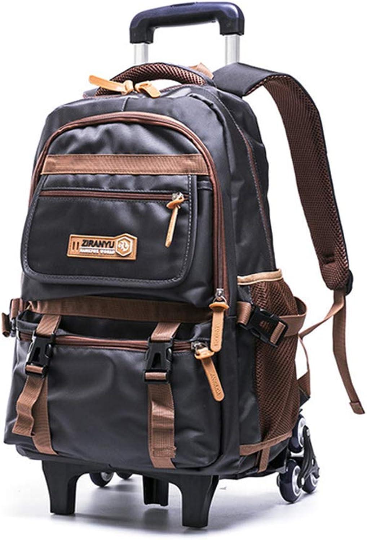 LYARA Student lssig Rucksack, Trolley-Schultasche der Mittelschule, abnehmbarer Rucksack mit zwei bis fünf Stufen Lssiger wasserdicht im Freien reisen
