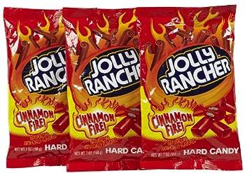 Jolly Rancher Hard Candy Cinnamon Fire Flavor Peg Bag 7 oz 3 pk
