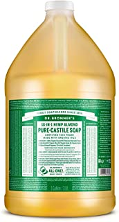 Dr. Bronner's - Pure-Castile Liquid Soap (Almond, 1 Gallon) - Made with Organic Oils, 18-in-1 Uses: Face, Body, Hair, Laun...