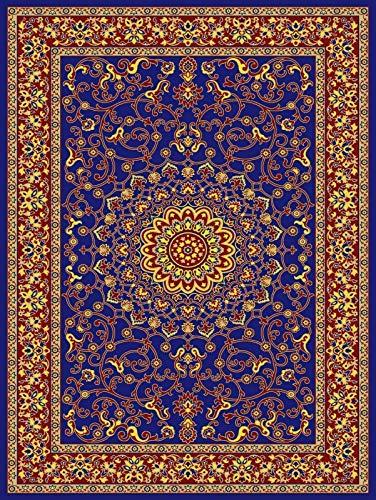 SP Soft Large Traditional Carpet Living Room Vintage Rug Corridor Runner Kitchen (Blue, W 100 x L 160 cm)