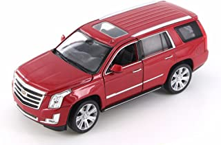 Welly 2017 Cadillac Escalade, Red 24084WR - 1/24 Scale Diecast Model Toy Car