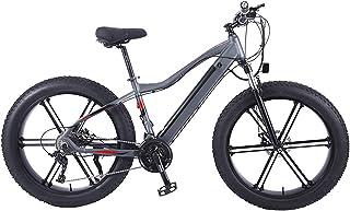 Elektrisk mountainbike, snöcykel, 26 tum fett däckcykel elcykel all terräng, 48V750w motor, 36V10AH avtagbart litiumbatter...