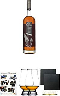 Eagle Rare 10 Jahre Single Barrel 0,7 Liter  Poster The Making of Malt Whisky DIN A1  The Glencairn Glass Whisky Glas Stölzle 2 Stück  Schiefer Glasuntersetzer eckig ca. 9,5 cm Durchmesser 2 Stück
