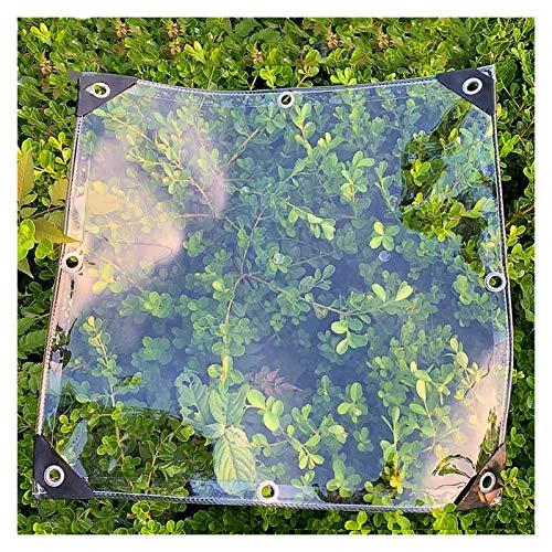 AWSAD Lona Tela Gruesa Impermeable Lona al Aire Libre PVC Transparente Balcón Protector Solar Protector Solar Tela Impermeable Lonaa Prueba de Viento Invernaderos,Varios Tamaños