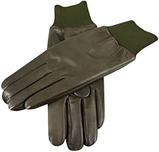 Dents Mens Royale Right Hand Leather Shooting Gloves - Olive
