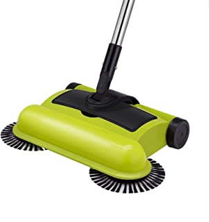 WSJTT Broom And Dustpan Spinning Cordless Push-Power Broom 3 in 1 360 Degree Rotating Cleaning Sweeper Tool Lightweight, N...