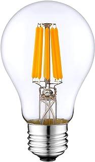A19 Type Vintage Light Bulb A60 3000k 6 Watt DC 12V LED Edison Filament E27 Screw Base Lamp Low Voltage RV Marine Boat Cla...