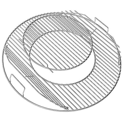 Coisien 8835 Grillroste Ersatz für Weber 57cm Holzkohlegrills, Gourmet-System, verchromte Kochgitter für Weber 8835 Grills, One-Touch-, Performer-, Bar-B-Wasserkocher- und Master-Touch-Holzkohlegrills