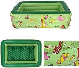 EWRW - Piscina hinchable para niños, piscina hinchable de verano, bañera hinchable de seguridad para patio exterior (210 x 145 x 65 cm)