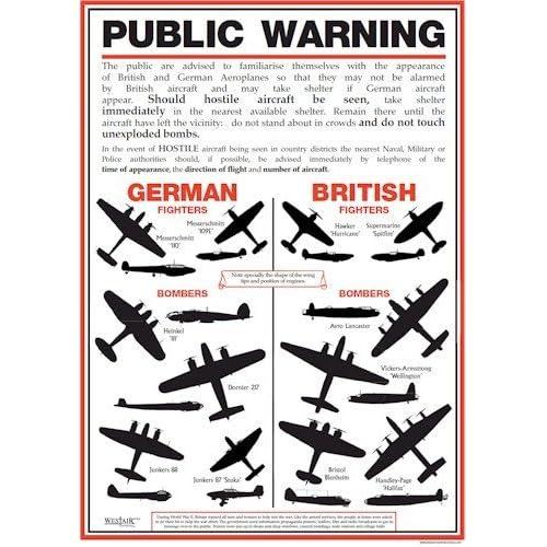 Vintage World War Two RAF Propoganda Poster Print A3//A4