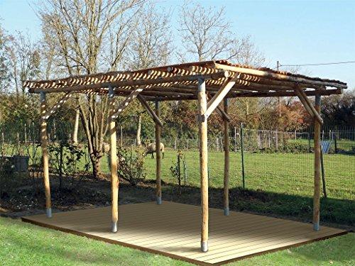 Gartenlaube Julia | Kastanienholz | Bausatz | Laube | Naturgarten | Ökolaube