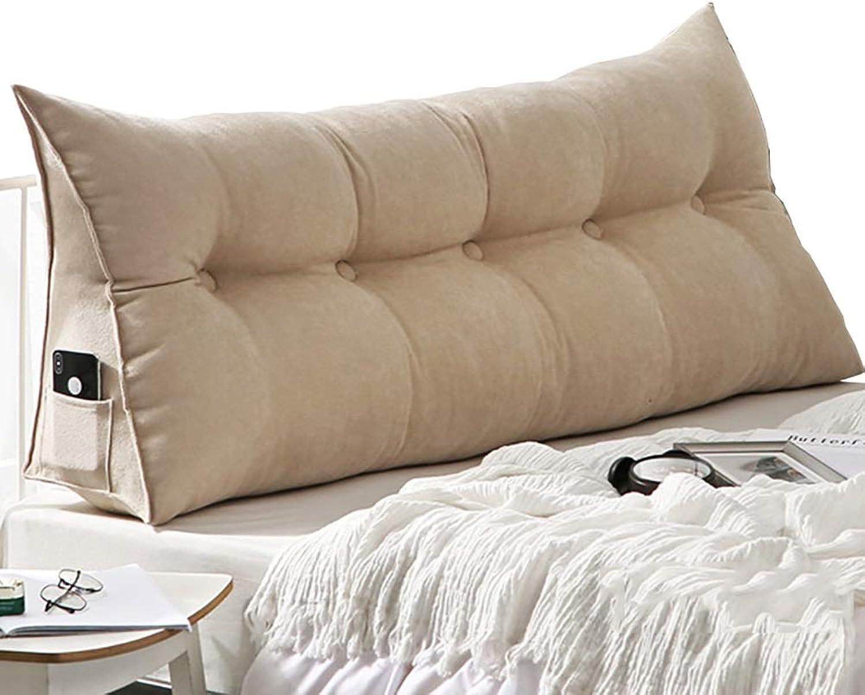 Coussins lombaires Coussin se pliant de dossier de lecture pour le lit sofa, coussin lombaire mou portatif d'oreiller de soucravaten avec la couverture détachable (taille   60×20×50cm)