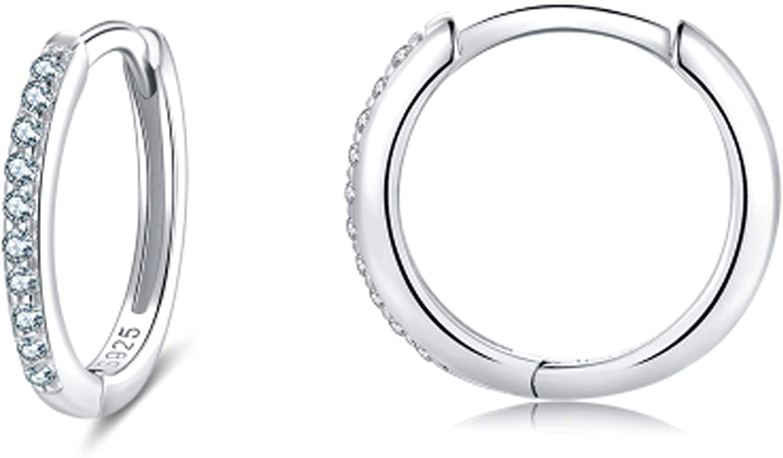 Inexpensive Sterling Excellent Silver Hoops Earrings for Pair Women 1 Hypoaller Girls