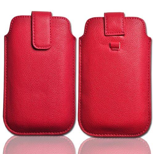 Handy-Punkt–Funda protección Case Piel Rosa W21Talla 3para Huawei Honor/Huawei Ascend G300/Sony Xperia...