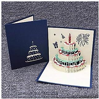 Tarjetas de cumpleaños, regalos especiales para familiares, amigos y amantes, tarjetas emergentes 3D con exquisito corte d...