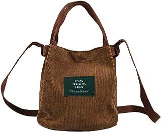 Eflying Lion Mini Cord Schultertasche Damen,Lässige Handtasche,Handtasche Tasche,Mädchen Umhängetasche (braun)