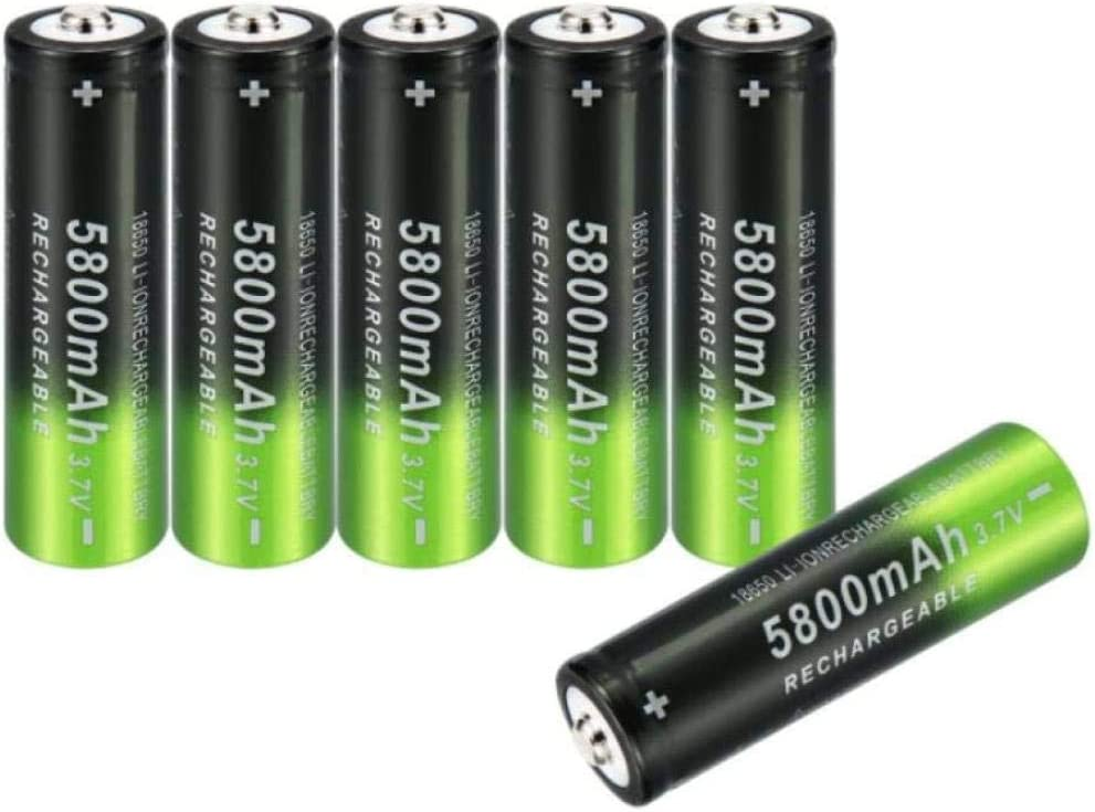 6pcs 3 7V 5800mAh Direct store 18650 Lithium Rechargeable Max 53% OFF Battery Lithi
