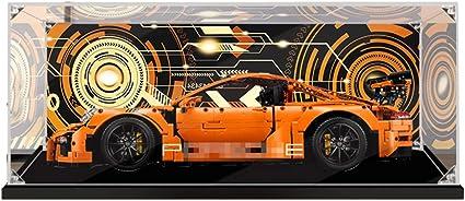 Showcase Display Case Haudstaub Gesch/ützt Schaukasten wangxike Acryl Vitrine Kompatibel Mit Lego 42056 Technic Porsche 911 GT3 RS Ohne Modell Kit
