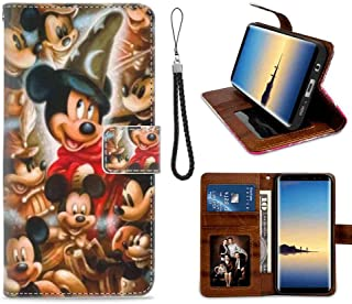 Wallet Case Fit Samsung Galaxy S7 [5.1 Inch] Mickey Mouse 90th Anniversary Puzzle Full Body