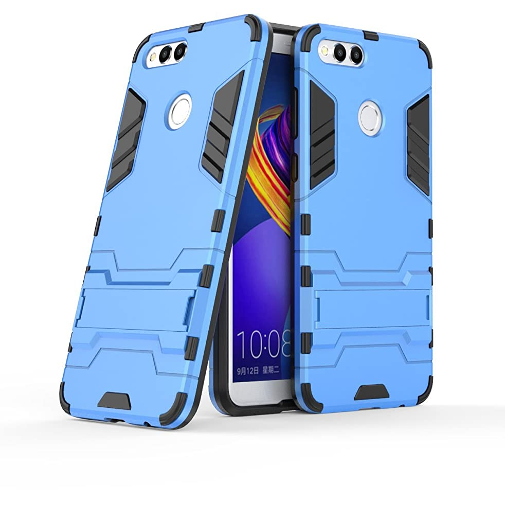 Honor 7X Case, Huawei Mate SE Case, Hybrid Armor Case [2 in 1] Lightweight Hard PC Cover + Flexible TPU Scratch Resistant with Kickstand for Huawei Honor 7X / Huawei Mate SE 5.93