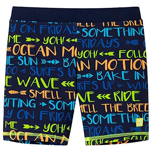 Schiesser Jungen Bade-Shorts Badeshorts, Mehrfarbig (Multicolor 1 904), Herstellergröße: 128