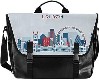 Londres City - Bolso de lona para hombre y mujer, diseño retro de caricatura, ideal para iPad, Kindle, Samsung