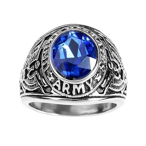 offrire sconti Promozione delle vendite marchi riconosciuti Anello con pietra Blu: Amazon.it