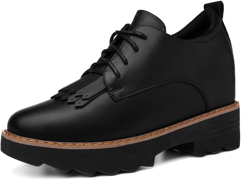 U-MAC Women Increased Inside Sneakers Round Toe shoes Anti-Slip Thick Sole Walking shoes