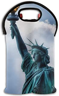 YYH Wine Tote Carrier Bag Statue-of-Liberty Purse for Champagne,Water Bottles