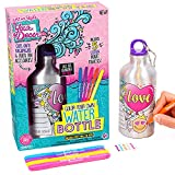Just My Style Your Decor Color Your Own Water Bottle By Horizon Group Usa, DIY Bottle Coloring Craft Kit, BPA Free Aluminum 18.9fl oz Drinking Water Bottle, Decorate Using Colorful Markers & Gemstones