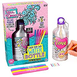 Best Toys for 8 Year Old Girls-Horizon Color Your Own Water Bottle Kit