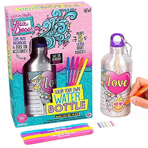 Just My Style Your Decor Color Your Own Water Bottle By Horizon Group Usa, DIY Bottle Coloring Craft...