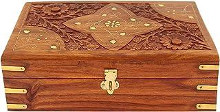 Fine Art Wood Jewellery Box Organizer, Brown
