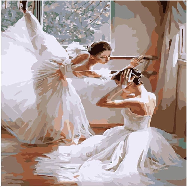 barato y de alta calidad XCSXCSHUA Pintura Digital Ballet, 100X180cm 100X180cm 100X180cm Pintura de Arte de Parojo Digital Hogar Decoración de Parojo Obra Sin Marco  barato y de moda